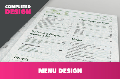 Create a very tasty menu design