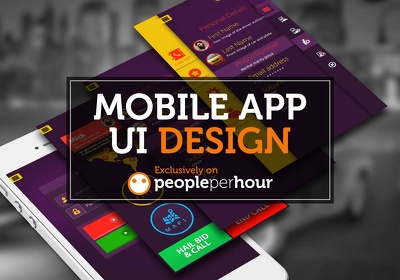 Design mobile app screens / UI for android or iOS phones and tablets