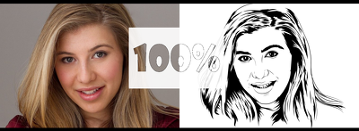 Redraw your photo in a line out vector style