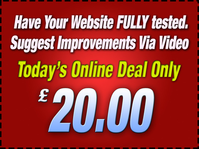 User test your website and suggest  improvements via video