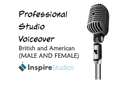 Record 150 words of pro male or female british or american voiceover in 24 hours