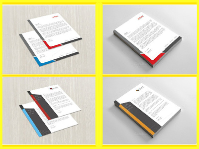 Design stylish and professional LETTERHEAD or invoice with 24hours
