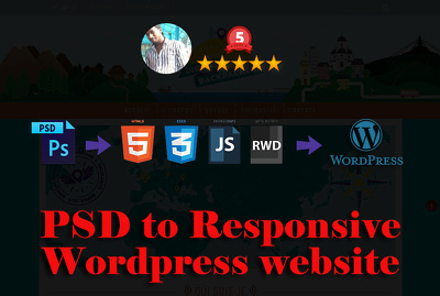 PSD to Responsive WordPress Website