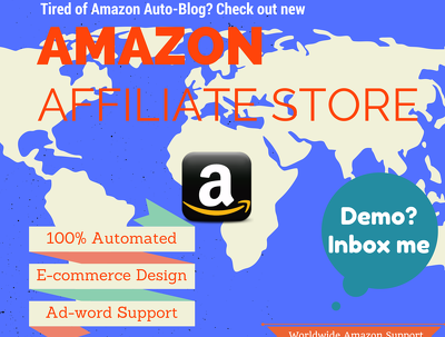 Create amazon affiliate ecommerce store with cart