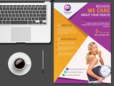 Design awesome double-sided flyer / leaflet / poster  within 48 hours
