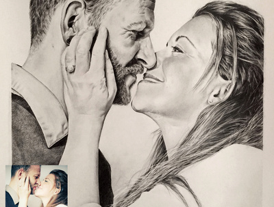 Draw a bespoke pencil portrait suited as a gift for every occasion - size A4
