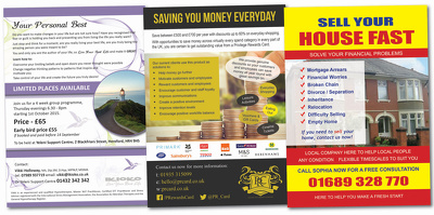 Design A5 Flyer, Leaflet one sided