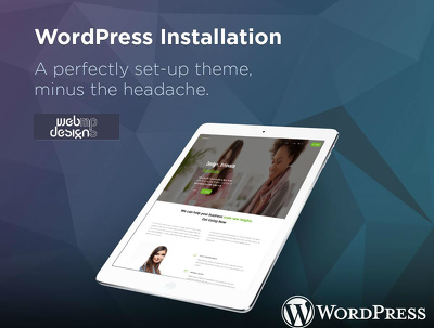 Wordpress Installed including Theme with Demo Content
