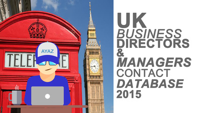 UK Business contact database (directors & managers)