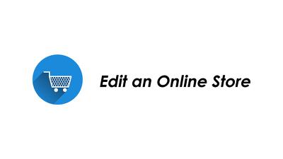 Edit an Online Store