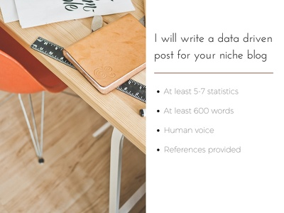 Write a data driven post for your niche blog (Digital Marketing)