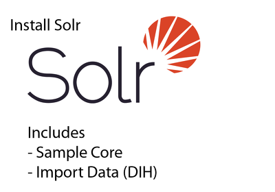 Install Solr, Create sample index/core & import data