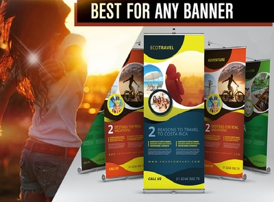Design creative roller banner for your business
