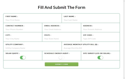 Create a simple and elegant responsive contact or application form