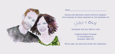 Create a bespoke illustration for your wedding invitation design