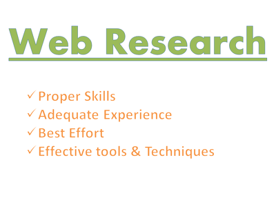 "Do ""Web Research"" (efficiently) for 1 hour"