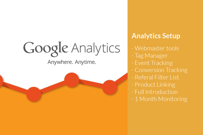 Setup Google Analytics / Tag Manager with Webmaster tools & Event Tracking
