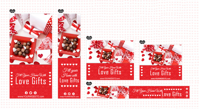 Design Special Valentine Theme Banner, Card or Invitation