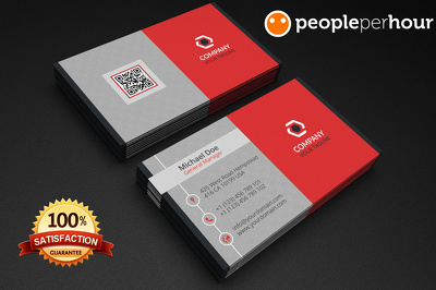 *Premium*  Double sided business card with Unlimited Concept/Revisions