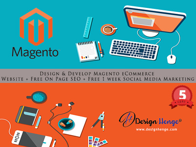 Design & Develop Magento eCommerce Website + Free On Page SEO + Free 1 week Social MM