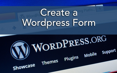 Create a Form in Wordpress and integrate it into your site.