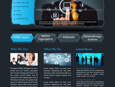 Design stunning website home page
