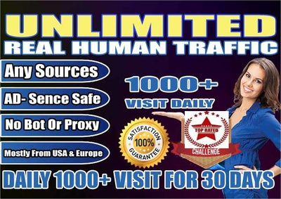 Drive 1000 USA Traffic Daily to your Website to boost your SEO SERP & Google Rankings