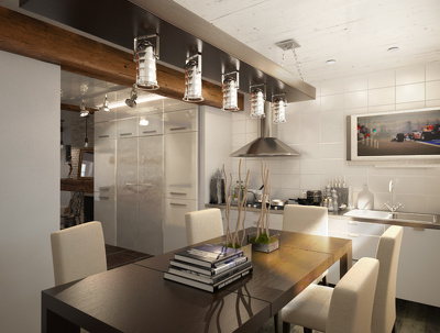 Interior rendering with highest quality