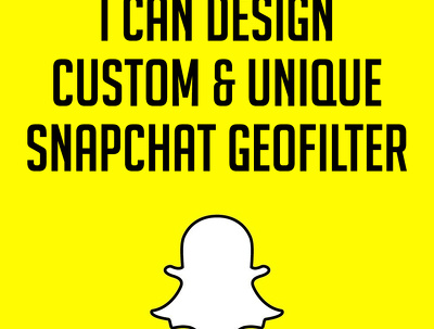 Design custom and unique snapchat geofilter