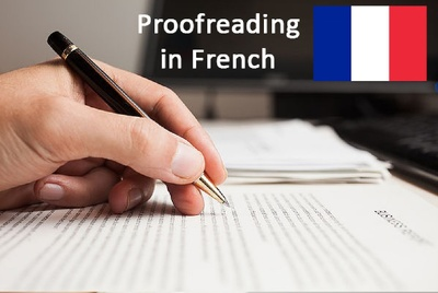 Proofread any document in French of up to 5000 words