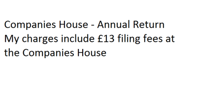 File your Annual Return to the Companies House