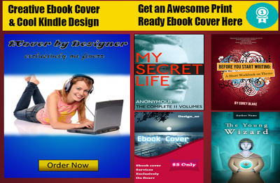 Design professional book cover or kindle