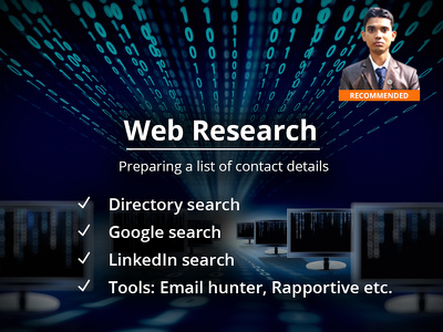 "Do ""Web Research"" (3 days)  to find 400 company emails/contact details/info."