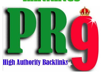 Manually do 40 PR9 Safe SEO High Pr Backlinks for 2016 Best Results