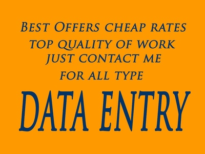 Do Data Entry, Copy Paste and PDF to Excel