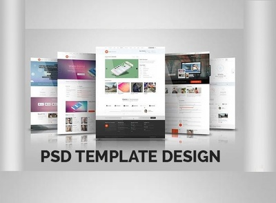 Creative and unique web page professional website psd template