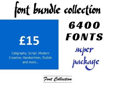 6400 fonts