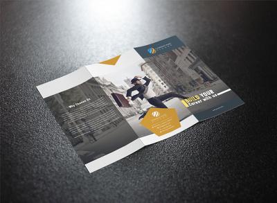 Design a bi fold or tri fold brochure