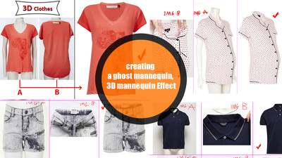creating a ghost mannequin, 3D mannequin Effect