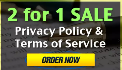 Write a Terms of Service and Privacy Policy for your website