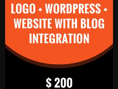 Wordpress Responsive Website Design + Logo + Blog