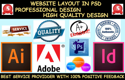 Create Eye Catching User Friendly home page mockup (PSD)