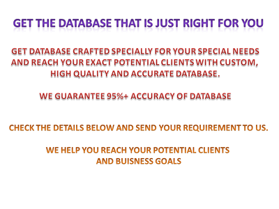 Create custom database based on your requirement