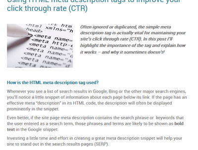 Write 15 meta descriptions to turbocharge search engine click through