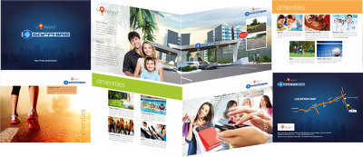 Deliver you a 4 page brochure