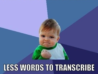 Accurately transcribe 30 minutes of English from audio / video