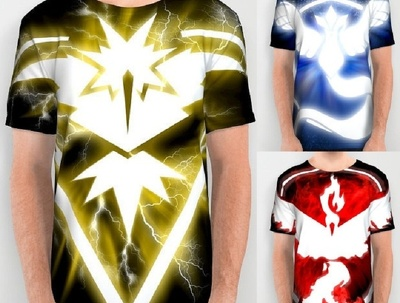 Design Eye Catching Custom T-Shirt Pokemon Go of your team and send you