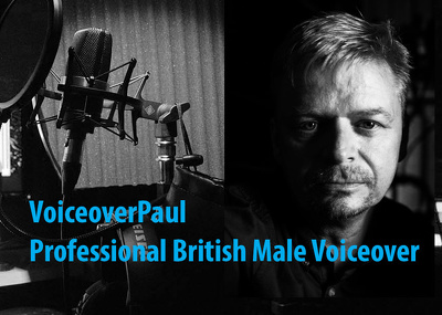 Record a professional British male voice over / voiceover within 24 hours