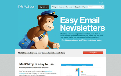 Add mailchimp into your website