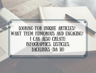 Create a unique 500 word humorous and engaging article on a topic of choice